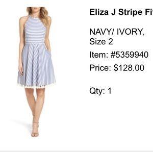 WORN ONCE Stripe tassel dress